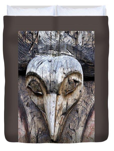 Totem Face Duvet Cover by Cathy Mahnke