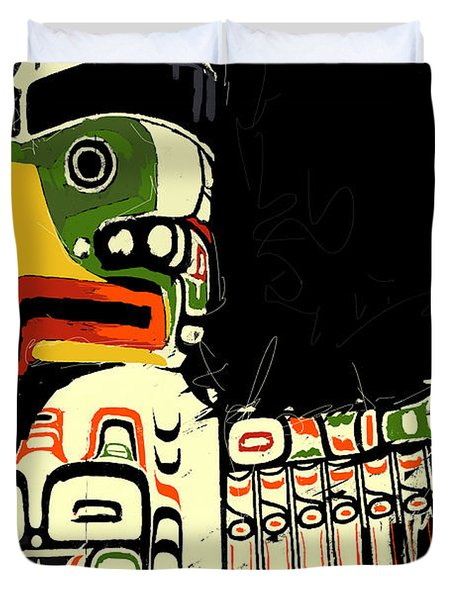 Totem Pole 01 Duvet Cover by Catf