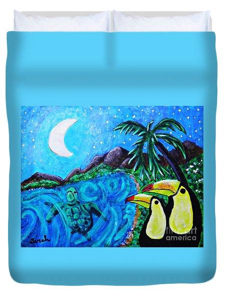 Toucan Bay Duvet Cover by Sarah Loft
