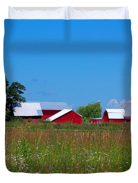 Touch Of Color Duvet Cover by Dave Files