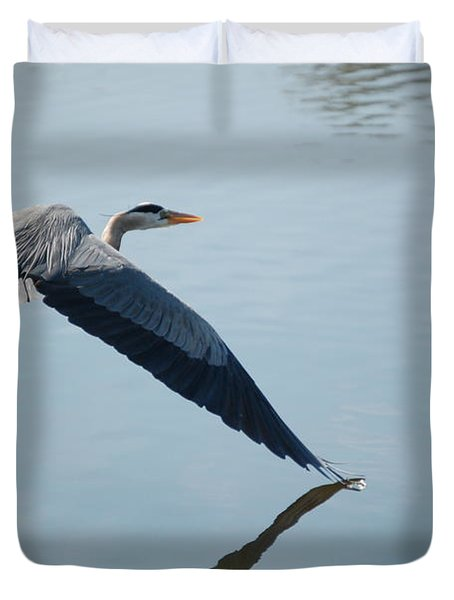Touch The Water With A Wing Duvet Cover