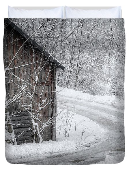 Touched By Snow Duvet Cover