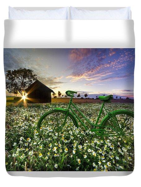 Tour De France Duvet Cover by Debra and Dave Vanderlaan