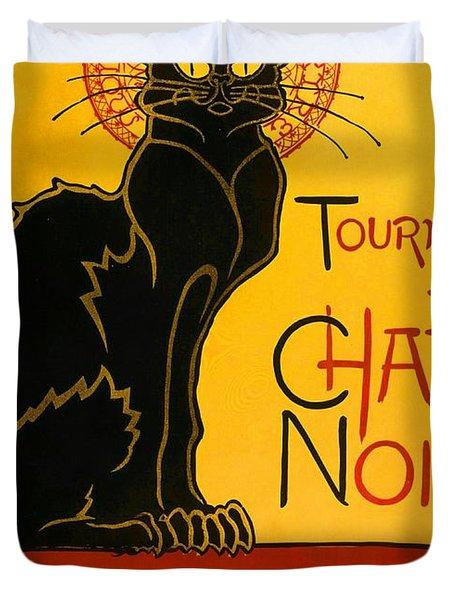 Tournee Du Chat Noir Duvet Cover