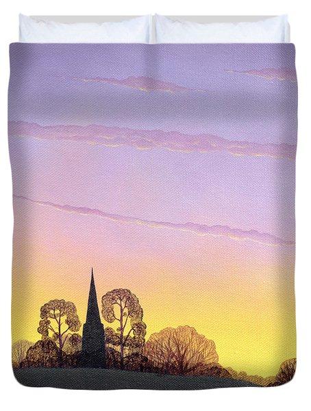 Towards Grandborough Duvet Cover by Ann Brian