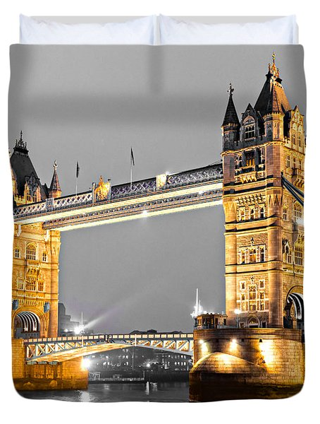 Tower Bridge - London - Uk Duvet Cover by Luciano Mortula