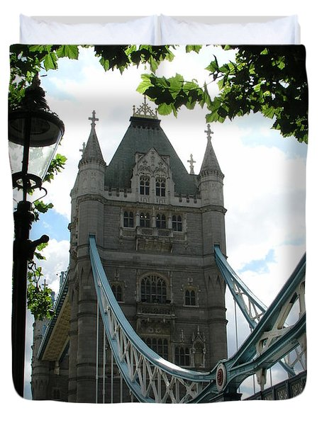 Tower Bridge Duvet Cover by Bev Conover