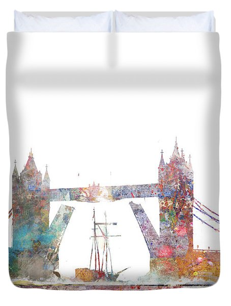 Tower Bridge Colorsplash Duvet Cover
