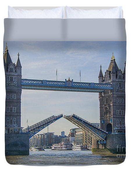 Tower Bridge Opened Duvet Cover