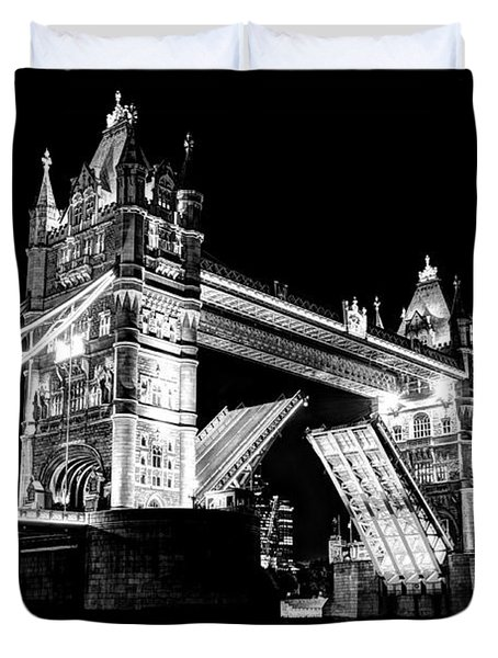 Tower Bridge Opening Duvet Cover