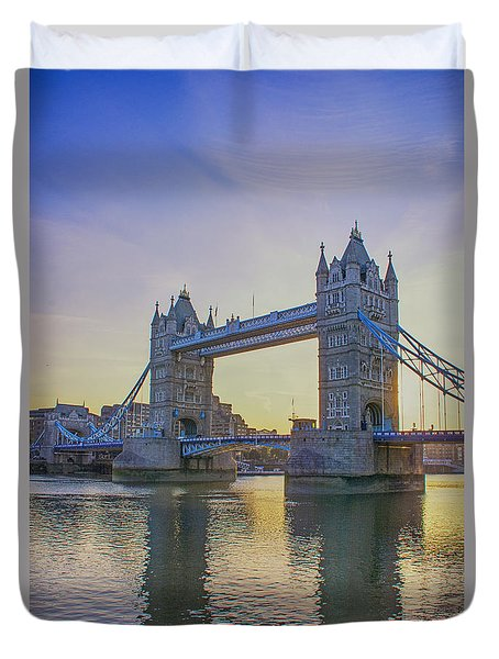 Tower Bridge Sunrise Duvet Cover