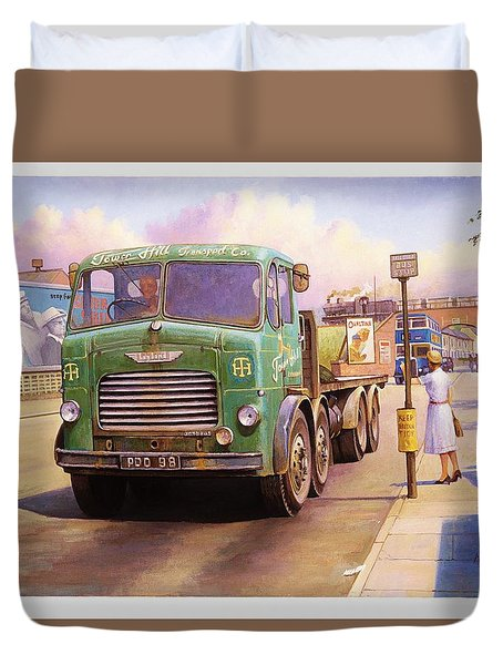 Tower Hill Transport. Duvet Cover