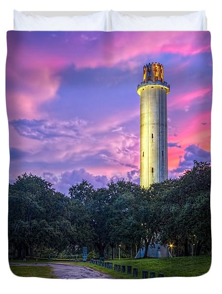 Tower In Sulfur Springs Duvet Cover by Marvin Spates
