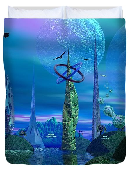 Tower Of Hurn Duvet Cover by Mark Blauhoefer