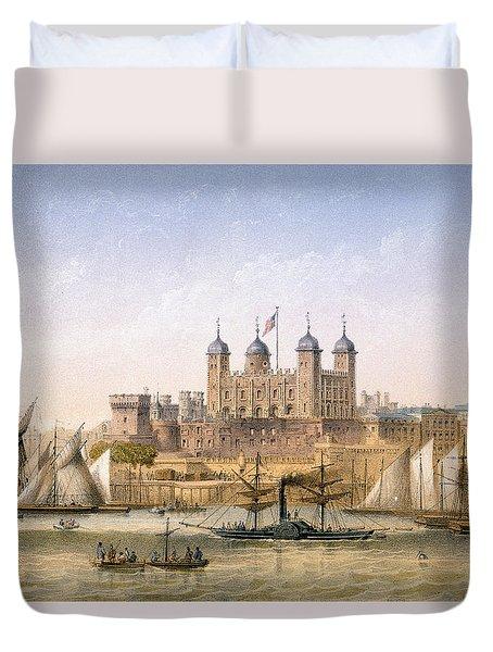 Tower Of London, 1862 Duvet Cover