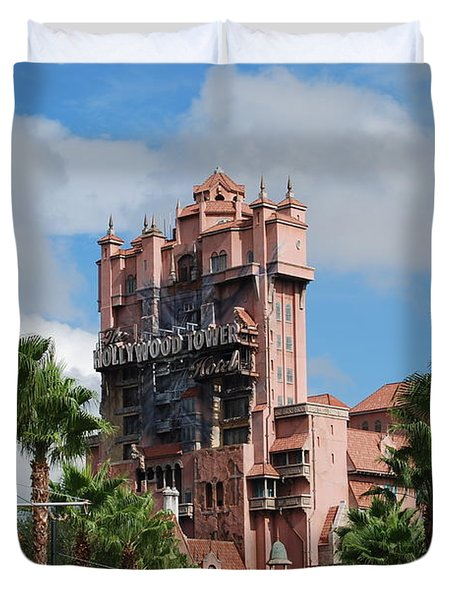 Tower Of Terror  Duvet Cover by Eric Liller