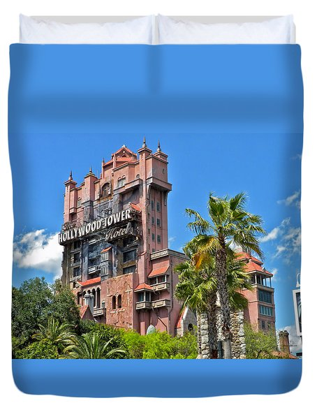 Tower Of Terror Duvet Cover by Thomas Woolworth
