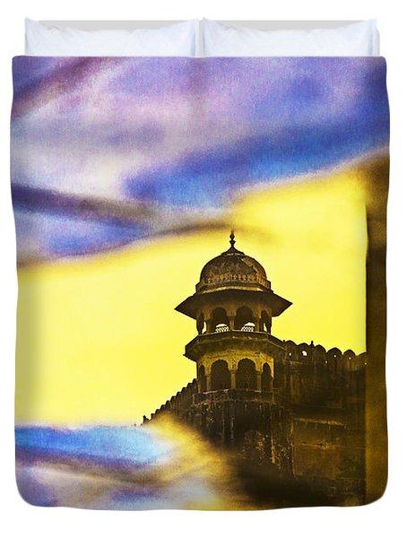 Tower Reflection Duvet Cover by Prakash Ghai