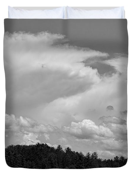 Towering Clouds Over Buck Lake Duvet Cover