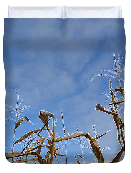 Duvet Cover featuring the photograph Towering Corn  by Lyle Crump