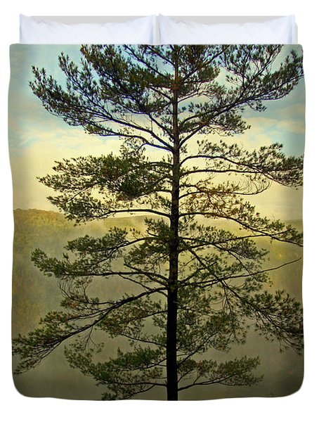 Towering Pine Duvet Cover