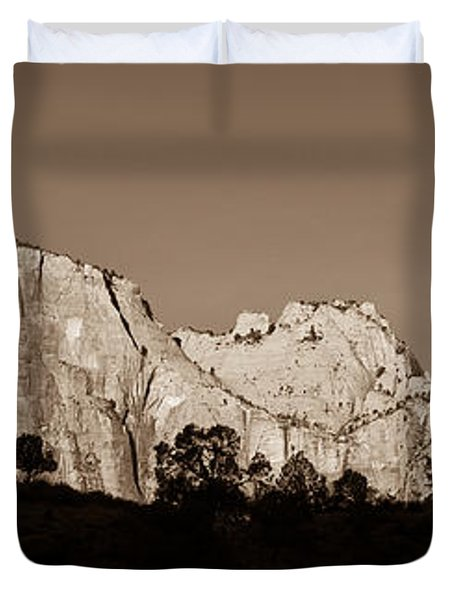 Towers Of The Virgin Duvet Cover by Adam Romanowicz