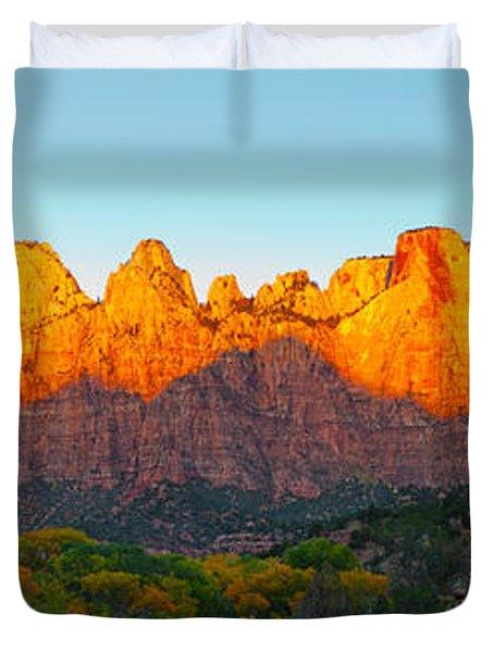 Towers Of The Virgin And The West Duvet Cover by Panoramic Images