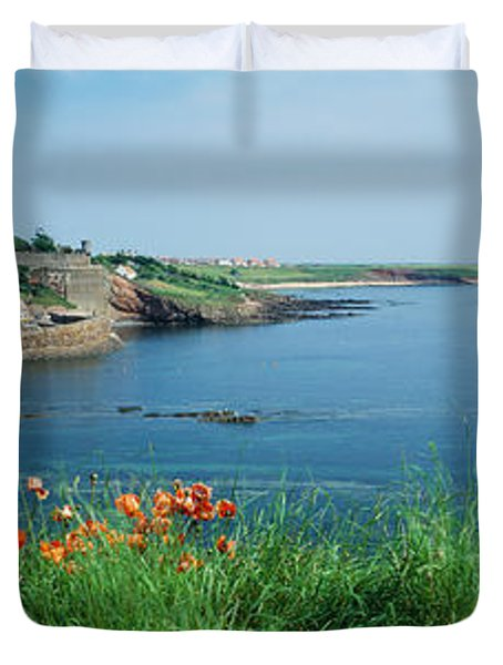 Town At The Waterfront, Crail, Fife Duvet Cover