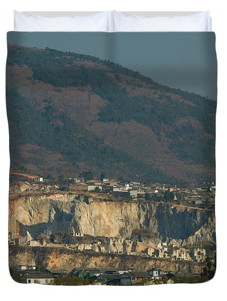 Town At The Waterfront, Shaping, Erhai Duvet Cover