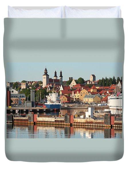 Town Harbour Duvet Cover