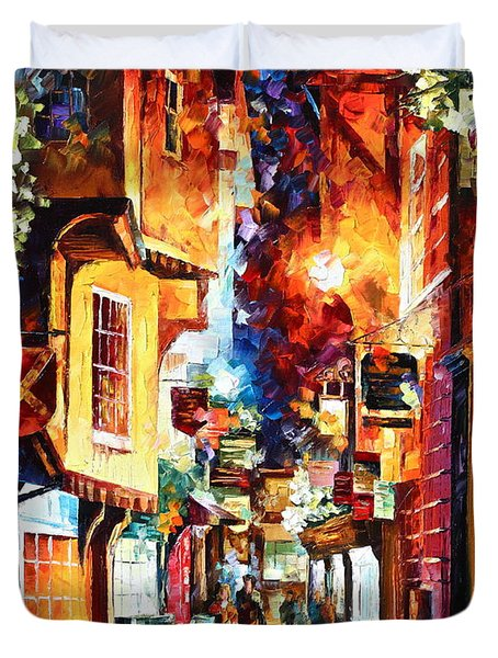 Town In England Duvet Cover by Leonid Afremov