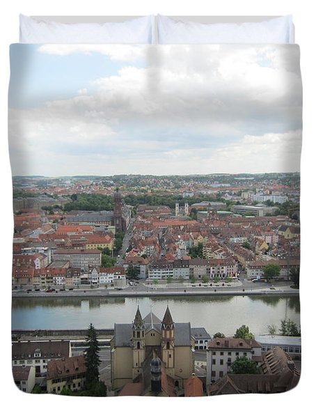 Town Of Wurzburg Duvet Cover by Pema Hou