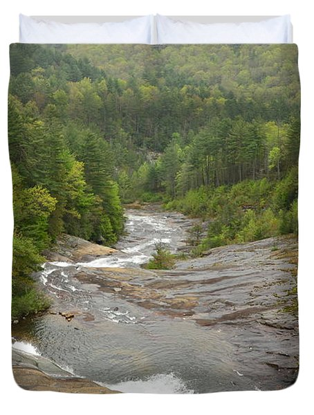 Toxaway Waterfalls Duvet Cover by Bob Sample