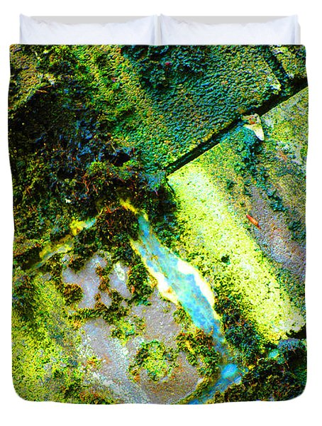 Duvet Cover featuring the photograph Toxic Moss by Christiane Hellner-OBrien
