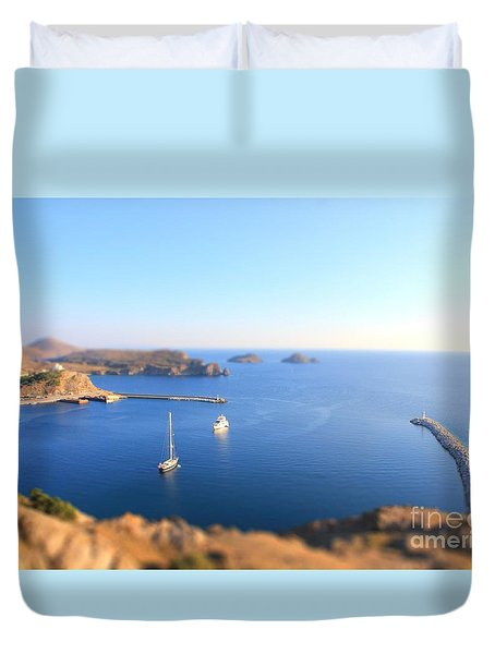 Toy Boats Duvet Cover by Vicki Spindler