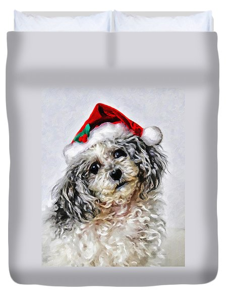 Toy Poodle- Animal- Christmas Duvet Cover