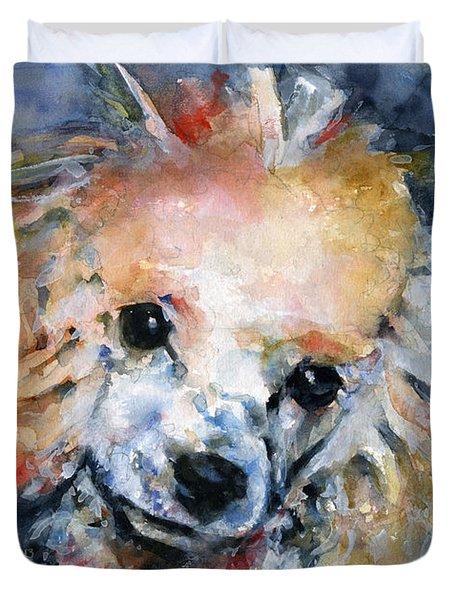 Toy Poodle Duvet Cover