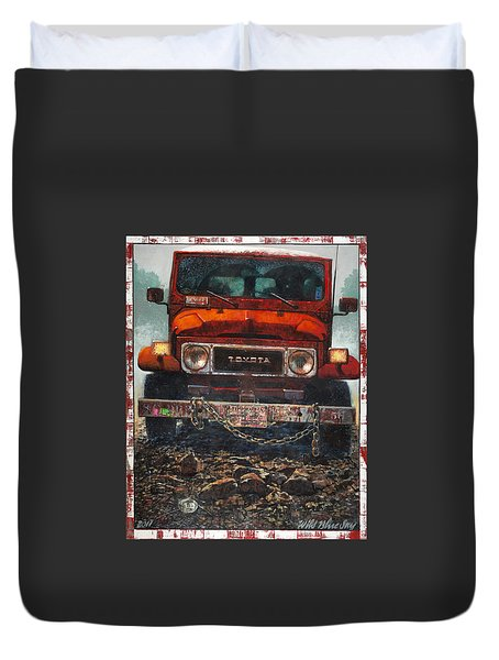 Toyota Duvet Cover by Blue Sky