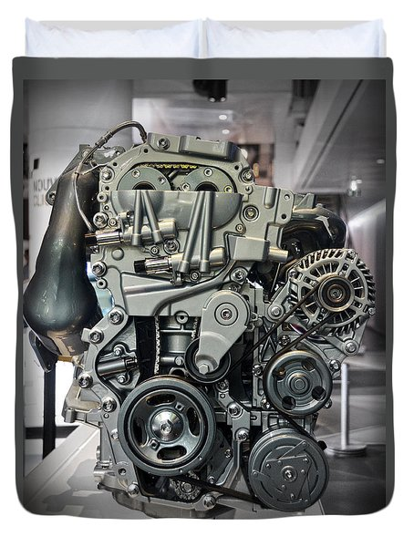 Toyota Engine Duvet Cover