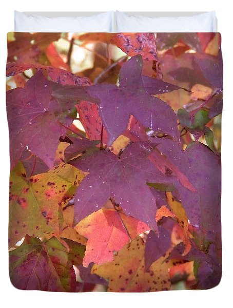Duvet Cover featuring the photograph Traces Of Fall by Andrea Anderegg