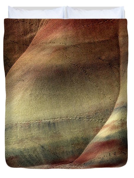 Traces Of Life Duvet Cover by Mike  Dawson