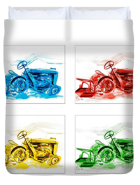 Tractor Mania  Duvet Cover by Kip DeVore