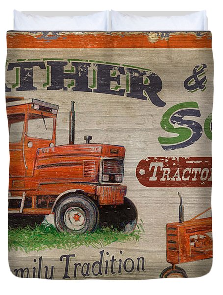 Duvet Cover featuring the painting Tractor Supplies by JQ Licensing