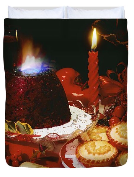 Traditional Christmas Dinner In Ireland Duvet Cover by The Irish Image Collection