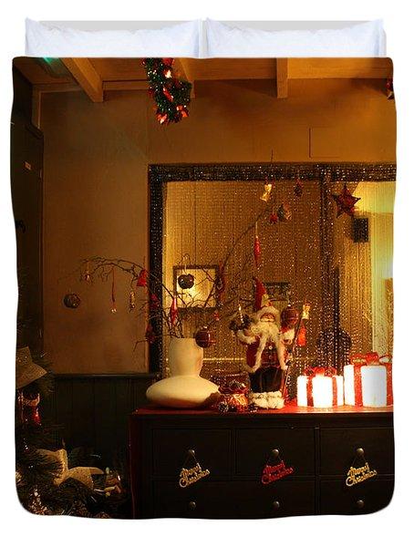 Traditional English Christmas Duvet Cover