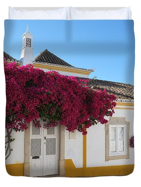 Traditional House Of Tavira. Portugal Duvet Cover