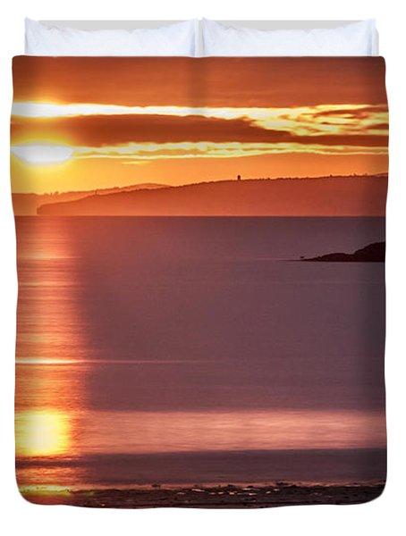 Traeth Bychan At Sunrise Duvet Cover