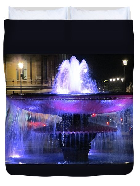 Trafalgar Square Fountain Duvet Cover