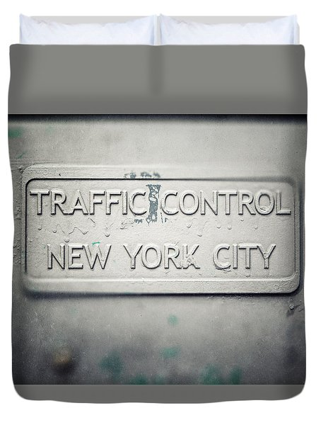 Traffic Control Duvet Cover by Lisa Russo