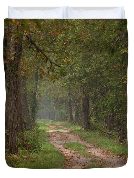 Trail Along The Canal Duvet Cover